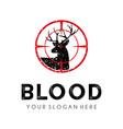 deer hunter logo design template vector image vector image