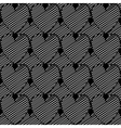 Design seamless monochrome doodle heart pattern vector image