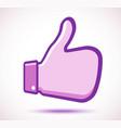 do symbol thumbs up violet emblem like icon i vector image vector image