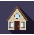 Family House Home icon with door and windows vector image vector image