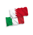 flags italy and bahrain on a white background vector image