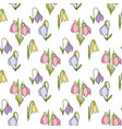 floral seamless hand drawn pattern with snowdrops vector image vector image