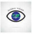 global vision sign vector image