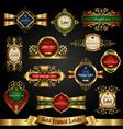 gold-framed colorful labels - exclusive set vector image vector image