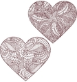 Gorgeous silhouettes of heart vector image vector image