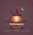 halloween poster pumpkin in vector image