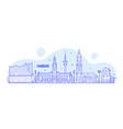 hamburg skyline germany city buildings vector image vector image