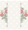 Invitation card with floral ornament vector image vector image