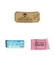 isolated object of ticket and admission sign vector image