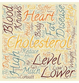 Keep Your Cholesterol Down text background vector image vector image