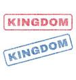 kingdom textile stamps vector image vector image