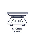 kitchen scale line icon concept kitchen scale vector image vector image