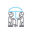 longevity insurance thin line stroke icon vector image vector image