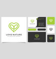 love nature logo design and business card vector image vector image