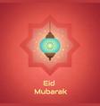 luminous lamp for muslim community festival eid vector image vector image
