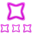 Magenta line square logo design set vector image vector image