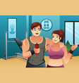 man and woman working out vector image