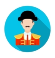 Matador icon in flat style isolated on white vector image