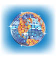 mirror ball globe vector image vector image
