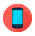 mobile phone flat circle icon vector image vector image