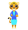 modern business woman tiger vector image vector image