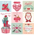 Mothers day cards setLabels heartsdecor vector image vector image