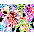 multicolored skeleton ornament day of the dead vector image vector image