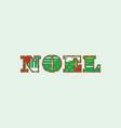 noel concept word art vector image vector image