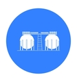 Oil refinery tank icon in black style isolated on vector image vector image