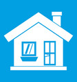 one-storey house with a chimney icon white vector image vector image