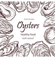 oyster healthy natural sea food frame banner vector image vector image