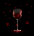 petals and red wine vector image