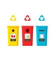 Recycling bins isolated on vector image