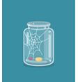 saving flat empty money jar vector image vector image