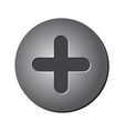 screw head isolated symbol icon design vector image