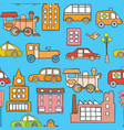 seamless cars pattern vector image vector image
