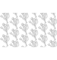 Seamless pattern black and white tulips flowers vector image vector image