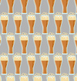 Seamless pattern with glasses of beer vector image vector image