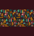 seamless pattern with leopards and abstract vector image vector image
