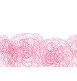 seamless pattern with linear roses vector image