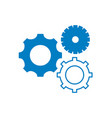 silhouette gears engineering industry process vector image vector image