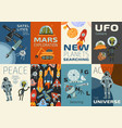 space cards set vector image