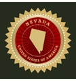 Star label Nevada vector image vector image