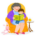 story time with grandma vector image