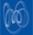 torus outline rendering of 3d vector image