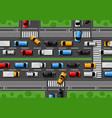 traffic jam city freeway cars congestion vector image