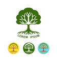 Tree logo design template vector image vector image