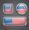 USA flag glass buttons vector image vector image
