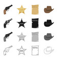 wild west history and other web icon in cartoon vector image