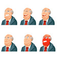 set of man face icons vector image